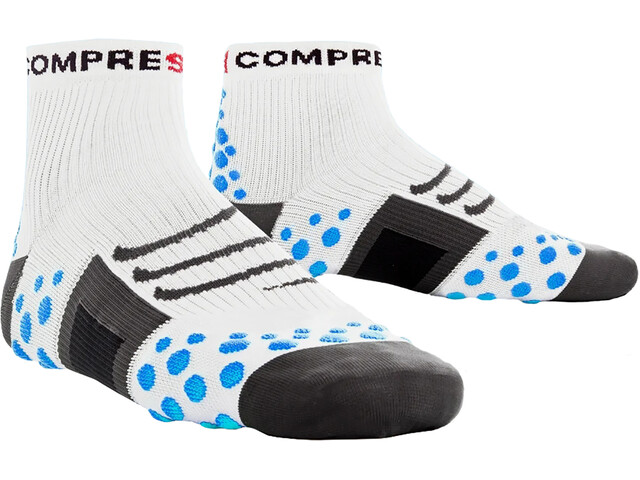 Compressport ProRacing Run Hardloopsokken blauw/wit